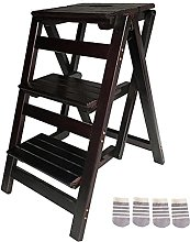 MSHAHO Step Stool for Adults,Stepladders Wooden