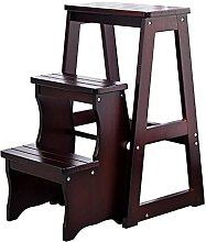 MSHAHO Step Stool for Adults,Wooden Folding