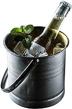MSLD Stainless Steel Ice Bucket Portable Ice