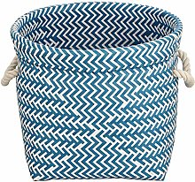 MSV Basket 32 x 32 x 27 cm Blue and White, 32 x 32