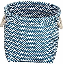 MSV Basket 35 x 35 x 30 cm Blue and White, 35 x 35
