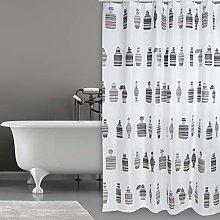 MSV Bath Curtain, Brown, 0