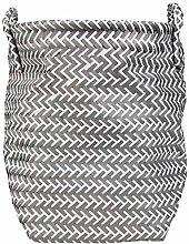 MSV Laundry Basket, Dark Grey/White, Unique Size
