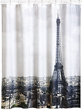 MSV PARIS SHOWER CURTAIN 180 X 200, Silver