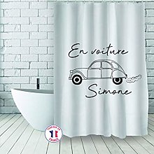 MSV Polyester Shower Curtain 180 x 200 cm Jeannot