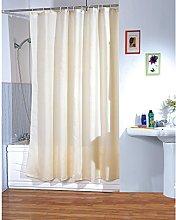 MSV Polyester Shower Curtain, Beige, 180 x 200 cm