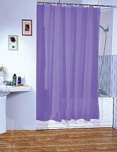 MSV Polyester Shower Curtain, Purple, 200 x 180 cm