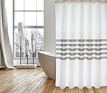 MSV Shower Curtain, Anthracite, Unique
