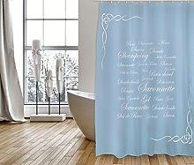MSV Shower Curtain, Blue, Unique Size