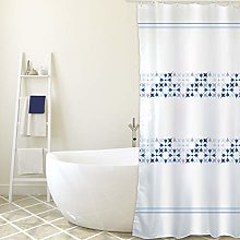 MSV Shower Curtain, Blue, Unique
