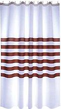 MSV Shower Curtain, Brown, Unique Size