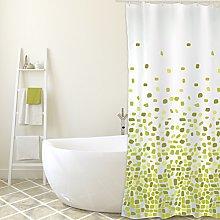MSV Shower Curtain, Green, Unique Size