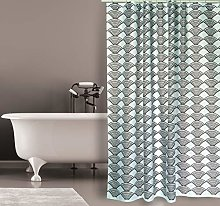 MSV Shower Curtain, Grey-Brown, Unique