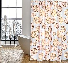 MSV Shower Curtain, Orange, Unique