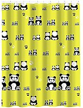 MSV Shower Curtain Panda of Polyester,