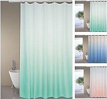 MSV Shower Curtain, Pastel Green, Unique