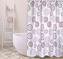 MSV Shower Curtain, Purple, Unique