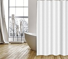 MSV Shower Curtain, White, Unique Size