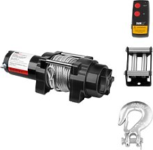 MSW Electric Winch - 1.590 kg - 3.500 lbs - 15,5 m