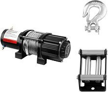 MSW Electric Winch - 2.040 kg - 4.500 lbs