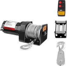 MSW Electric Winch - 907 kg - 2.000 lbs - Incl.