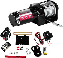 MSW Off-road rope winch - 3.500 lbs - 1,587 kg -