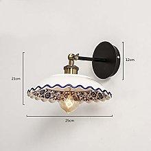 MTCGH Modern Creative Wall Lamp,Unique Ceramic