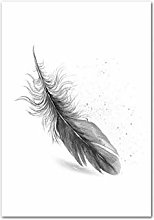 MTHONGYAO Poster Black White Watercolor Picture
