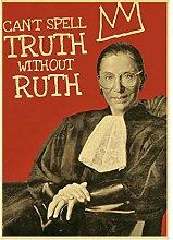 MTHONGYAO Poster Famous Ruth Bader Ginsburg