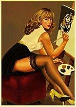 MTHONGYAO Poster World War II Soviet Girl Picture