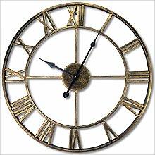 Mtisrx Wall clock retro Roman numerals round wall