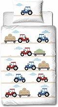 MTOnlinehandel DREUMHELDEN Tractor Baby Bed Linen