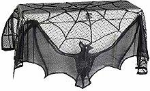 MTXD Halloween Decoration Black Lace Spider Web