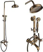 MTYLX Water-Tap,Bath Shower Systems Antique Brass