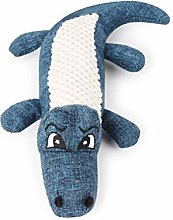 MU Creative Pet Dog Toy Linen Crocodile Animal Toy