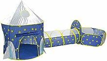 MUCC 3Pc Kids Playhouse Pop Up Play Tent Crawl