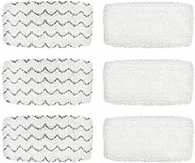 MUCHAO 6 Pack Washable Steam Mop Pads For Bissell