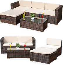 Mucola - Lounge seating group Rattan lounge Rattan