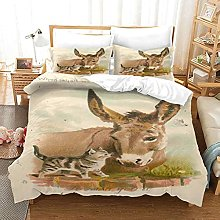 MUCXBE 3D Print Household Bedding Sets Easy Clean