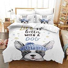 MUCXBE Baby Cot Duvet Cover Set 260x220cm 3 Pcs