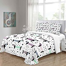 MUCXBE Duvet Cover Set Single Bedding Color Animal
