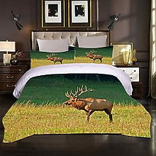 MUCXBE Duvet Cover Set Single Bedding Prairie