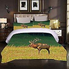 MUCXBE Duvet Cover Set Super King Size Prairie