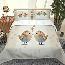 MUCXBE King Size Duvet Cover Sets 3D Cartoon