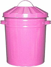 Muddy Hands 15 Litre Small Metal Bin with Lid