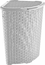 Muddy Hands Plastic Corner Laundry Basket with Lid