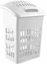 Muddy Hands Plastic Laundry Basket Lid Large White