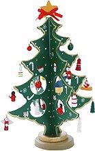 MUFENA 27PCS Wooden Christmas Tree 3D DIY Creative