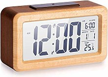 MUFENA Digital Alarm Clock Wooden Electronics