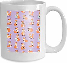 Mug Coffee Tea Cup Fox Cute Adorable Character